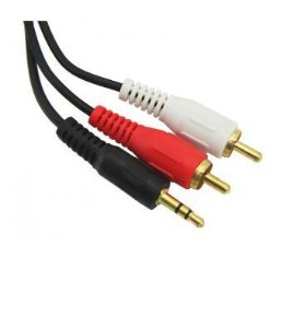 CABO P2 X 2 RCA 1 P2-M X 2-RCA-M 1,8M STEREO GOLD CHIP  0180160