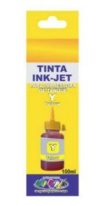 TINTA EPSON 100ML AMARELO OFF PAPER COMPATIVEL