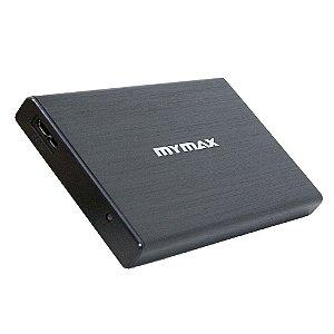 GAVETA EXTERNA P/ HD 2,5 SATA 3.0 PRETO MYMAX