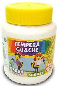 TINTA GUACHE 250ML BRANCO ACRILEX 519