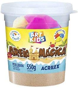 AREIA MAGICA NATURAL 550G ACRILEX