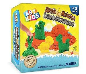 KIT AREIA MAGICA DINOSSAUROS 400G ACRILEX 05927