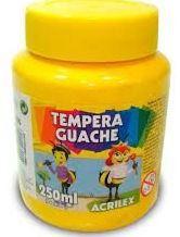 TINTA GUACHE 250ML AMARELO OURO ACRILEX 505