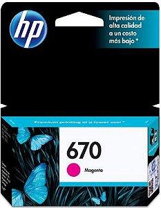 CARTUCHO HP 670 MAGENTA ORIGINAL CZ115AB