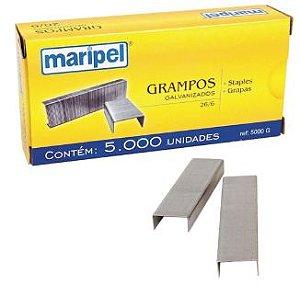 GRAMPOS GALVANIZADO  26/6 CX.5000UN MARIPEL 5000G