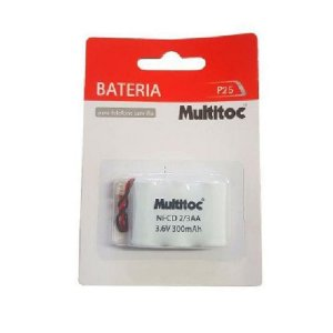 BATERIA TELEFONE S/FIO 3.6V 300MAH 2AAA P25 MULTITOC
