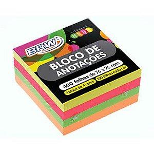 BLOCO ADESIVO 4 CORES NEON 76X76 400F BRW BA7676