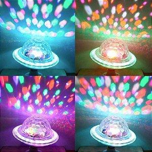 GLOBO DE LED MUSI/BLUETOOTH COLORIDA HL-0001