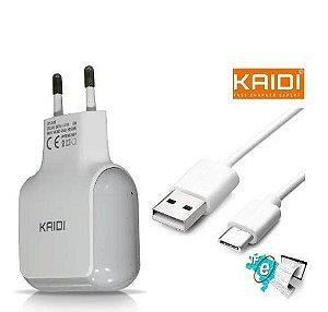 CARREGADOR TIPO C 1 USB 1A+CABO KAIDI KD-86C