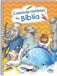 LIVRO COLORINDO HISTORIAS DA BIBLIA SBN TODO O LIVRO