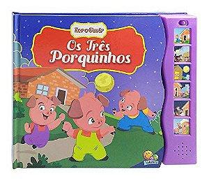 LIVRO HISTORIA CD MUSICAL OS TRES PORQUINHOS TODO O LIVRO