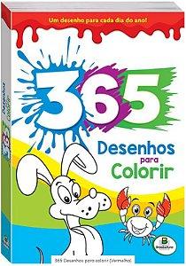 LIVRO 365 DESENHOS PARA COLORIR AZUL BRASILEITURA TODO O LIVRO