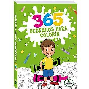 LIVRO 365 DESENHOS PARA COLORIR AMARELO TODO O LIVRO