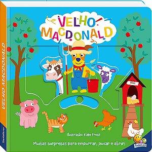 LIVRO HISTORIA CD VELHO MACDONALD EMPURRE PUXE E ABRA: TODO O LIVRO