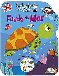 LIVRO COLORINDO MEU MUNDO FUNDO DO MAR C/ ADESIVOS BRASILEITURA
