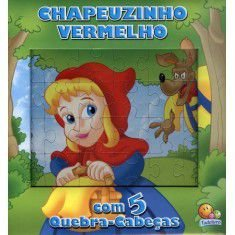LIVRO HISTORIA CD CHAPEUZINHO VERMELHO EM QUEBRA-CABECA TODO O LIVRO