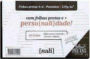 FICHA PAUTADA N2 4X6 151X100 PRETA PC.40F NALI