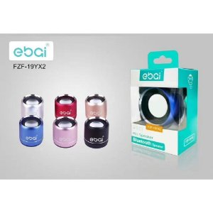 CAIXA SOM BLUETOOTH MINI SPEAKER EBAI DOURADO FZF-19YX2