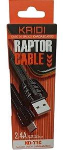 CABO USB TIPO C 1 MT KAIDI KD-71C