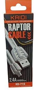 CABO USB V8 1 MT KAIDI KD-71S