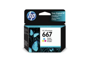CARTUCHO HP 667 COLOR ORIGINAL 3YM78AL