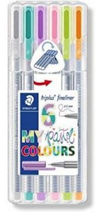 KIT DE CANETAS FINE LINER 0.3MM C/ 06 CORES MY PASTEL COLOURS STAEDTLER
