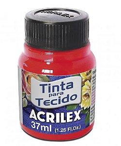 TINTA TECIDO 37ML VERMELHO FLUORESCENTE ACRILEX 103