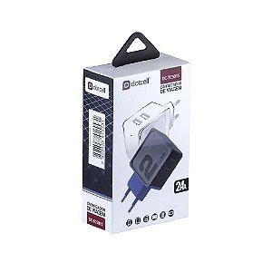 FONTE CEL TOMADA 2 USB 2.4A BIV DOTCELL DC-TC5015