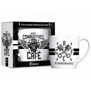 CANECA PORCELANA COMBUSTIVEL CAFE 360ML BRASFOOT