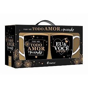 CANECA TODO AMOR DO MUNDO C/ 02UN BRASFOOT