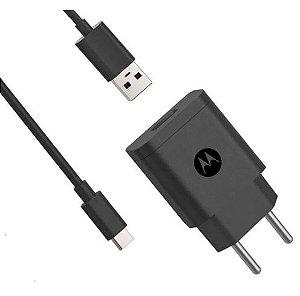 CARREGADOR TIPO C 1 USB + CABO 10W MOTOROLA ORIGINAL