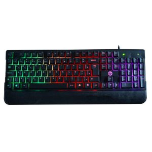 TECLADO USB GAMER RAINBOW PRETO C/LED BRAZIL PC K7038