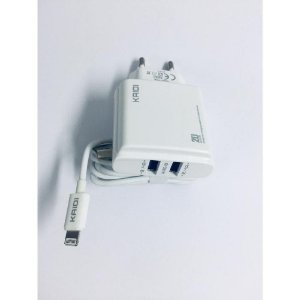 CARREGADOR APPLE 2 USB 2.4A+ CABO KAIDI KD-87A