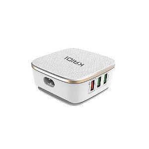 FONTE CEL TOMADA 6 USB BIV 35W KAIDI KD-601