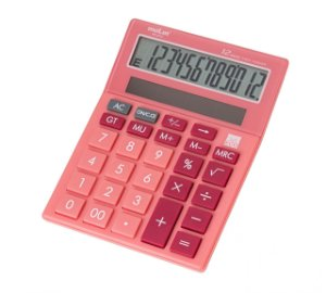 CALCULADORA 12 DIG MEDIA ROSA MC8112 MOLIN
