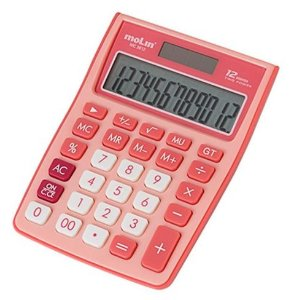 CALCULADORA 12 DIG MEDIA ROSA MC3812 MOLIN