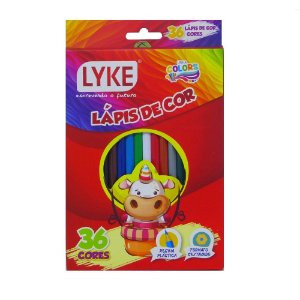 LAPIS DE COR 36 CORES RESINA LYKE