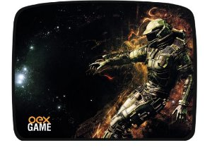 MOUSE PAD GAMER PRETO GALAXY OEX MP304