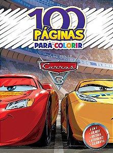 LIVRO 100 PAGINAS PARA COLORIR CARROS 3 BICHO ESPERTO