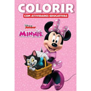 LIVRO DISNEY COLORIR MEDIO MINNIE BICHO ESPERTO