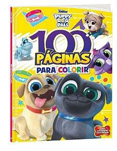 LIVRO 100 PAGINAS PARA COLORIR PUPPY DOG PALS BICHO ESPERTO