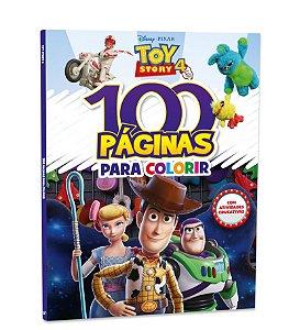 LIVRO 100 PAGINAS PARA COLORIR TOY STORY 4 BICHO ESPERTO