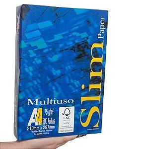 PAPEL SULFITE A4 75G MULTIUSO SLIM RESMA 500 FOLHAS