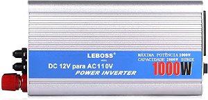 INVERSOR 1000W ENTRADA 12V SAIDA 110V LEBOOS LB-521