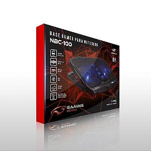 BASE PARA NOTEBOOK 4 COOLER USB PRETO C3TECH NBC-100BK