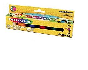 TINTA GUACHE 06 CORES 15ML HANG ACRILEX