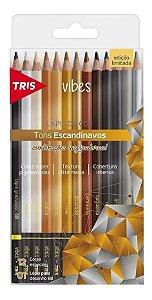 LÁPIS DE COR 12 CORES ESCANDINAVOS TRIS