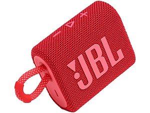 CAIXA SOM BLUETOOTH JBL GO 3 VERMELHO ORIGINAL iPX7