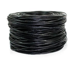 CABO REDE CAT.5E 25AWG 4 PAR CX 300 MT PRETO MULTILASER GIGA SECURITY