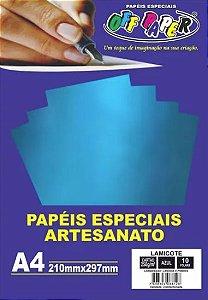 PAPEL LAMICOTE AZUL A4 250G 10F PCT OFF PAPER